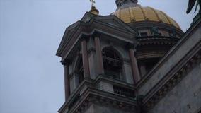 Barooco建筑学在圣彼德堡 股票视频