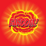 BAROOM! κωμική λέξη Στοκ Φωτογραφίες