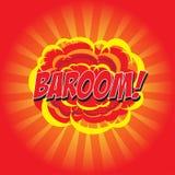BAROOM! komiskt ord Arkivfoton