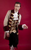 Baroque. Times nostalgy male in historical costume Stock Photos