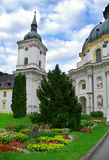 Baroque abbey tower and dome in bavaria. Baroque abbey tower and dome in ettal bavaria germany Stock Image