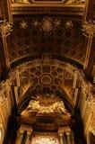 Baroque altar. Baroque interior in Duomo Cathedral, Forli, Italy Royalty Free Stock Photos