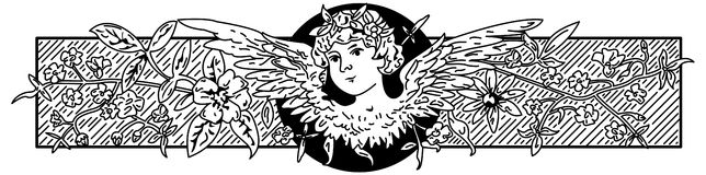 Baroque Angel illustration. Vintage antique baroque angel banner Royalty Free Stock Photos