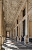 Baroque arcade in Rome, Italy. Perspective in a baroque arcade in Rome, Italy Stock Photography