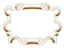 Baroque architectural ornamental decorative frame Royalty Free Stock Photo