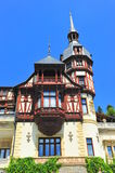 Baroque architectural style of Peles castle Royalty Free Stock Images