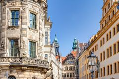 Baroque architecture in Dresden Stock Images