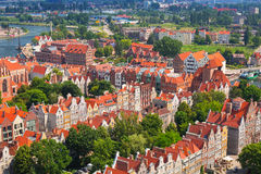 Baroque architecture of old town in Gdansk Stock Photo