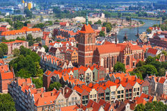 Baroque architecture of old town in Gdansk Royalty Free Stock Photography