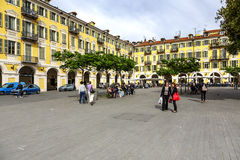 Baroque architecture at Place Garibaldi, Nice Royalty Free Stock Images