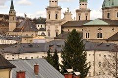 Baroque Architecture. Salzburg cityscape, Austria. Royalty Free Stock Image