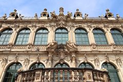 Baroque architecture. Of Zwinger Palace in Dresden, Germany stock images