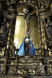 Baroque art in Porto Church, Portugal Royalty Free Stock Photography