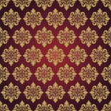 Baroque background. Baroque floral background red and gold Royalty Free Stock Photos