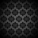 Baroque background. Baroque floral background gray and black Royalty Free Stock Images