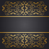 Baroque  background flowers Stock Images