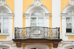 Baroque balcony on  facade of house Royalty Free Stock Image