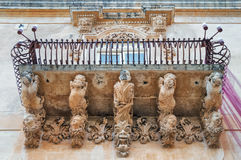 Baroque Balcony of Noto, Sicily, Italy Royalty Free Stock Photography