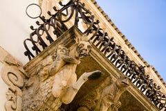 Baroque balcony, Scicli, Sicily Stock Photography