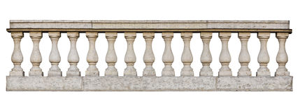 Baroque balustrade. (isolated on white background Stock Photos