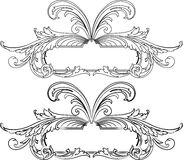 Baroque Banner Two Styles Royalty Free Stock Images