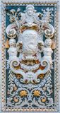 Baroque bas relieft in the Church of Santa Caterina in Palermo. Sicily, southern Italy. royalty free stock photo