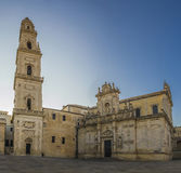 lecce basilic cathedral panorama Royalty Free Stock Image