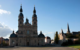 Baroque Basilica St. Salvator, Fulda Royalty Free Stock Photos