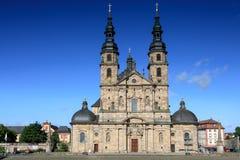 Baroque Basilica St. Salvator. Fuldaer Dom, Fulda, Germany royalty free stock photos