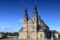 Baroque Basilica St. Salvator. Fuldaer Dom, Fulda, Germany royalty free stock image