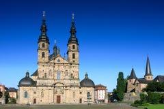 Baroque Basilica St. Salvator. Fuldaer Dom, Fulda, Germany stock photography