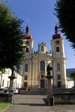 Baroque Basilica of the Visitation Virgin Mary, place of pilgrimage, Hejnice, Czech Republic Royalty Free Stock Images
