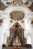 Baroque Bavarian Church. Baroque Church of Our Dear Lady in Lindau, Germany Royalty Free Stock Photography
