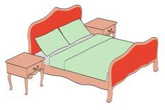 Baroque bed Stock Photos