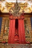Baroque bed at Hampton Court Palace near London Royalty Free Stock Image