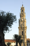 Baroque bell tower of the Clérigos church, Porto Royalty Free Stock Images