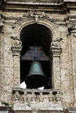 Baroque bell tower, detail of the top Royalty Free Stock Images