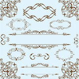 Baroque best set Royalty Free Stock Image
