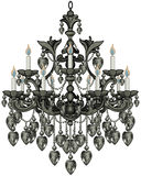 Baroque Black Chandelier Royalty Free Stock Image