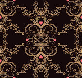 Baroque black and gold vintage background Stock Photography