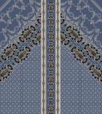 Baroque blue design baroque geometric lines royalty free illustration