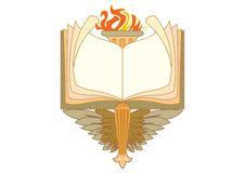 Baroque book frames and decorative elements - vintage banner with ribbon stock illustration