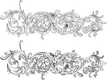 Baroque Border Two Styles Stock Image