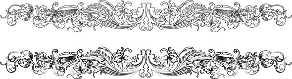 Baroque Border Two Styles: vector illustration