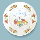 Baroque bouquet of wildflowers on white plate royalty free illustration