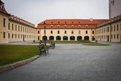 Baroque at Bratislava Castle. Baroque courtyard and building near the Bratislava Castle (or Bratislava Hrad Royalty Free Stock Photos