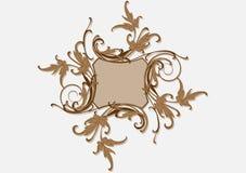 Baroque brown frame Stock Image