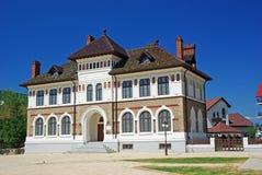 Baroque building. Art gallery and museum In Piatra Neamt, Romania stock photo