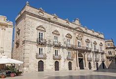 Baroque building in Siracusa Sicily Italy Royalty Free Stock Photos