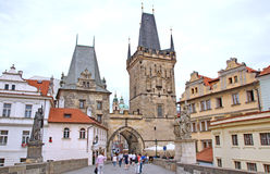 Baroque buildings in the Little Quarter in Prague stock images